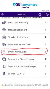 SBI Anywhere app cif no finding
