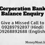 Corporation Bank Balance Enquiry